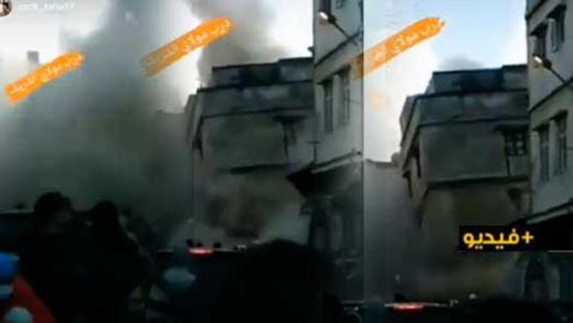 شاهدوا.. انهيار منزل بالدار البيضاء على المباشر
