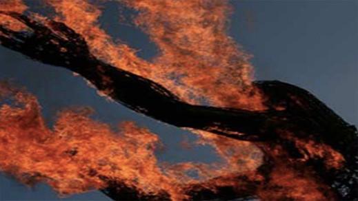 زوج يقوم بحرق زوجته قبل أن يقدم على الإنتحار بدافع الغيرة