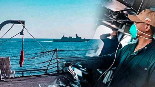 """""""مصافحة الأطلس"""".. البحرية الملكية ونظيرتها الأمريكية في تمارين في سواحل مدينتين مغربيتين (صور)"""