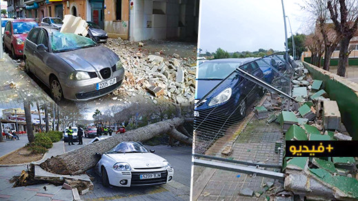 شاهدوا.. عاصفة قوية تثير فزع الاسبان في بالما دي مايوركا
