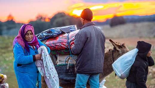 جمعية التعاون بلا حدود بشراكة مع جمعية الإخوة زعيتر تنظم النسخة الثانية من قافلة الشتاء الإنسانية