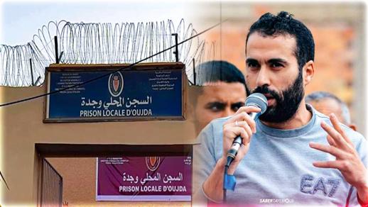 """محامون يزورون دينامو """"حراك الريف"""" نبيل أحمجيق بسجن وجدة"""