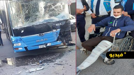 سائق يكشف تفاصيل حادثة بين حافلتين للطلبة بالقرب من كلية سلوان