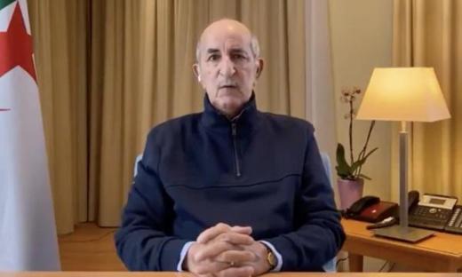 أول ظهور للرئيس الجزائري تبون بعد مضاعفات كورونا
