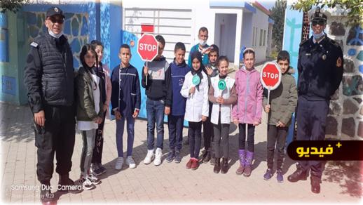 رئيس أمن أزغنغان يشرف على تأطير تلاميذ مؤسسات تعليمة خلال اليوم العالمي للسلامة الطرقية