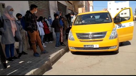 اعتصام تلاميذ بوغريبة رفقة آبائهم بمقر جماعة أركمان للمطالبة بالنقل المدرسي