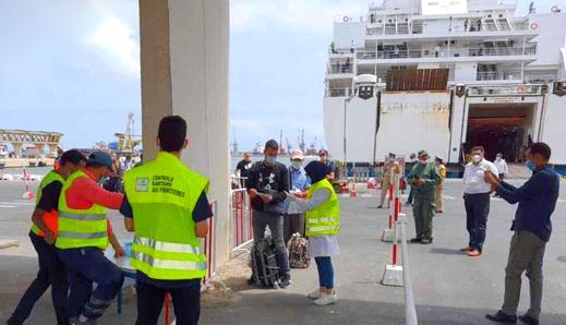 """إلغاء رحلتين بحريتين بين ميناء """"سات"""" بفرنسا وميناء بني انصار"""