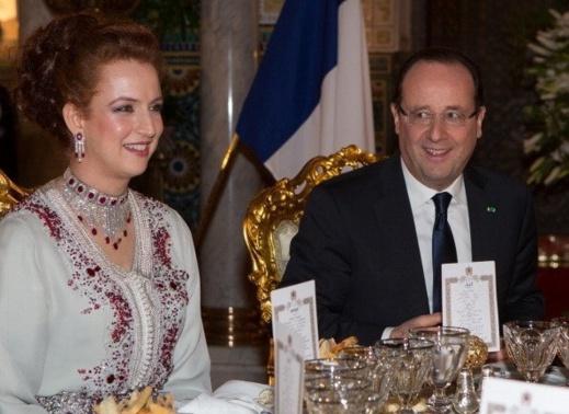 بالصور: أناقة للا سلمى تذهل الفرنسيين
