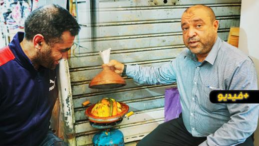 شاهدوا.. أزمة خانقة في سوق أولاد ميمون تدفع التجار إلى التقشف في الأكل