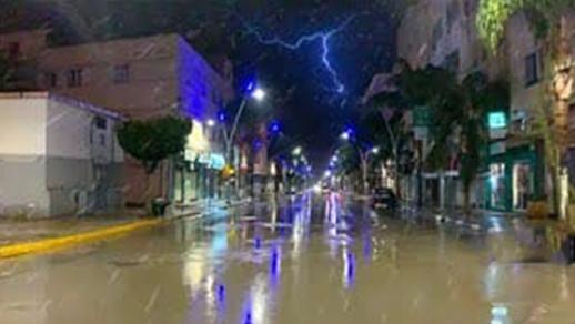 أمطار رعدية قوية بالناظور وعدد من المناطق الأخرى ابتداء من اليوم