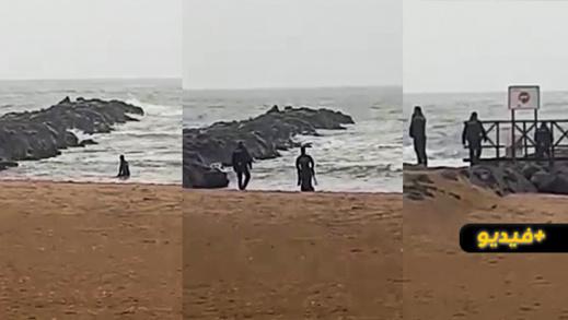 شاهدوا.. انتشال جثة غريق آخر من شاطئ مليلية المحتلة