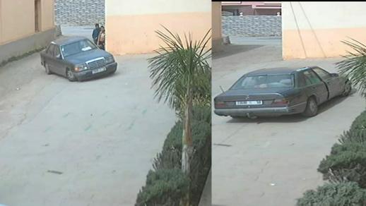 سرقة سيارة في واضحة النهار أمام مسجد بفرخانة يستنفر أمن بني انصار