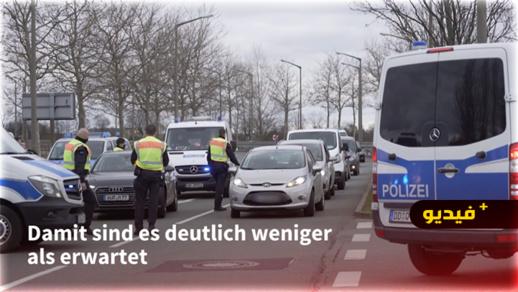 شاهدوا.. مظاهرات بالسيارات ضد تدابير كورونا في ألمانيا