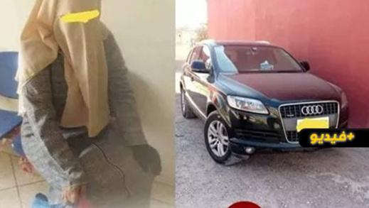 """شاهدوا.. متسولة """"مليونيرة"""" تمتلك سيارة فارهة تثير الجدل في المغرب"""