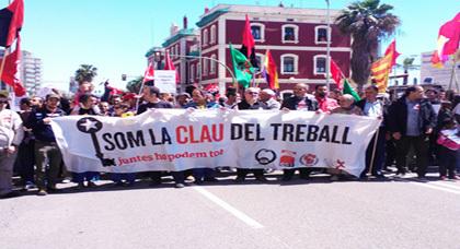 مغاربة كطالونيا يخلدون عيد العمال وسط عواصف الأزمة الاقتصادية