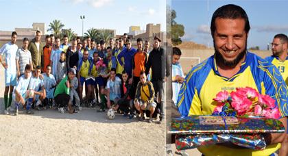 تكريم محمد القدوري لاعب فريق نهضة زايو سابقا من الفاعلين الرياضيين بزايو