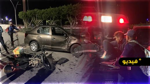حادثة سير تُرسل سائق دراجة نارية لمستعجلات مستشفى الحسني في حالة حرجة