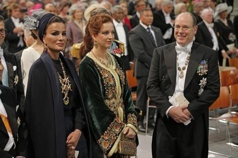 الأميرة لالة سلمى الأكثر أناقة في حفل تنصيب ملك هولندا