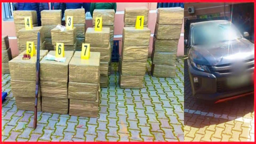 شاهدوا.. حجز كميات كبيرة من المخدرات خلال اقتحام مصنع لصناعة الحاويات
