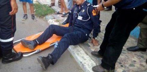 إلقاء القبض على تلميذ طعن شرطيا بالسلاح الأبيض