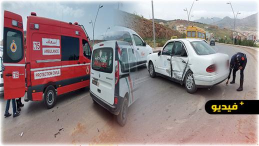 حادثة سير تخلف إصابة إمرأة وخسائر مادية بكورنيش الناظور