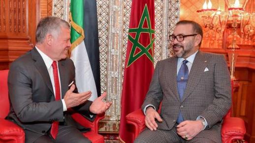 الملك محمد السادس يتضامن مع عاهل المملكة الأردنية الهاشمية