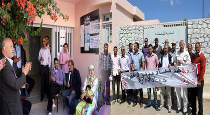 أطر تربوية تابعة لنقابة العليم تعتصم داخل ثانوية حسان بن ثابت احتجاجا على مديرها