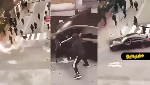 شاهدوا.. مشهد صادم لحظة قتل مهاجر في مواجهات بلييج البلجيكية