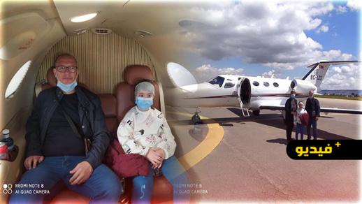 شاهدوا.. الطفلة مروى تبدأ رحلة علاجها من ورم سرطاني في الدماغ