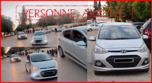 مناورات خطيرة تنتهي باعتقال سائق سيارة
