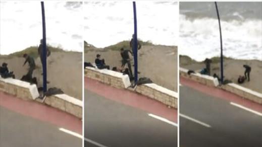توقيف ثلاثة افراد من القوات المساعدة بعد ظهورهم في فيديو تعنيف شاب