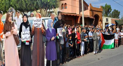 جماعة العدل والإحسان بزايو تتضامن مع الشعب الفلسطيني