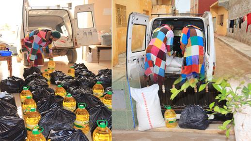 الزاوية الكركرية تقوم بتوزيع مساعدات لمجموعة من العائلات بجماعة العروي