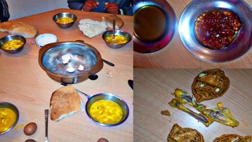 صور لوجبة فطور رمضانية لتلاميذ دار الطالبة بإعدادية الريف بسيدي علي بورقبة تفضح تدبير الإدارة
