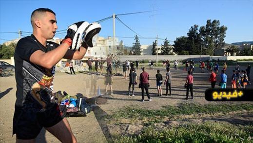 البطل الناظوري وليد أعوالي يطلق مبادرة الرياضة في الهواء الطلق ويستقطب العشرات من أبناء أزغنغان