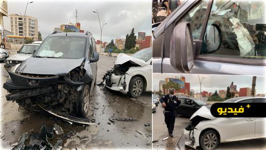 شاهدوا.. حادثة سير مروعة دقائق قبل آذان المغرب بمدخل مدينة الناظور