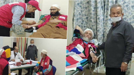 أزيد من 230 مشارك في حملة الهلال الأحمر للتبرع بالدم