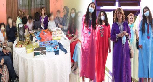 البرلمانية ليلى أحكيم تزرع البسمة هي وعائلتها على وجه أطفال جمعية الياسمين بالناظور