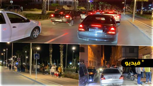 شاهدوا جولة بكورنيش مارتشيكا وسط تدخل السلطات الأمنية لتطبيق حظر التجوال الليلي