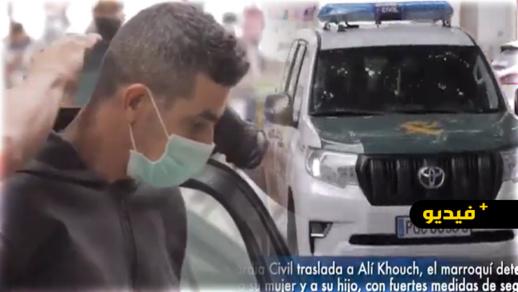 شاهدوا.. مواطنون يشتمون الناظوري قاتل زوجته الحامل وابنه بإسبانيا