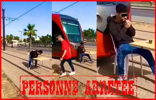 الأمن يوقف بطل فيديو عرقلة سير الطرامواي