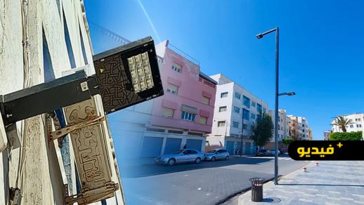 جماعة الناظور تجهز مجموعة من الشوارع بأعمدة أضواء جديدة
