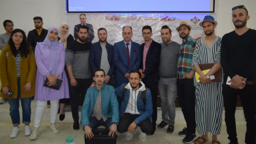 طلبة القانون يكرمون الاستاذ مصطفى قريشي