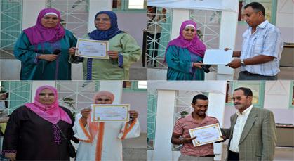 توزيع الشواهد على المستفيدين من برنامج محو الأمية بجماعة أولاد ستوت بزايو