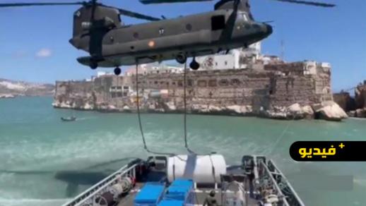 شاهدوا.. إسبانيا تستفز المغرب بمناورات عسكرية قبالة سواحل الريف