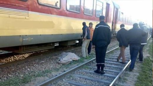 القطار المنطلق من الناظور يدهس فتاة