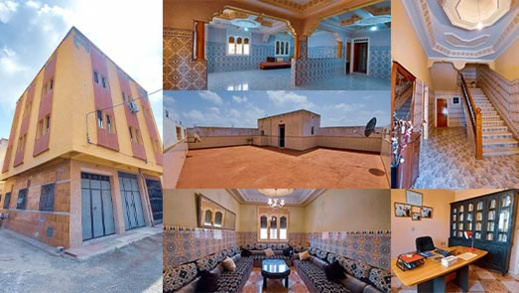 منزل بواجهتين وطابقين وتصميم عصري للبيع بثمن مناسب بالناظور