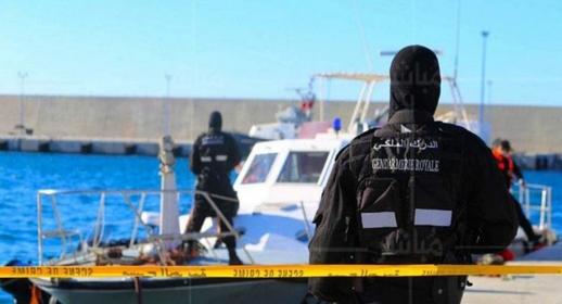 عناصر الدرك البحري تجهض عملية للتهريب الدولي للمخدرات على متن زورق سريع بسواحل قرية أركمان