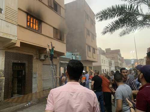 حريق شقة وسط الناظور يعيد تأخر الوقاية المدينة إلى الواجهة