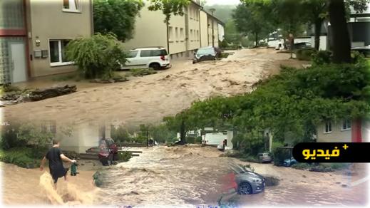 شاهدوا.. فيضانات تغرق مدنا ألمانية وتسجيل 19 حالة وفاة بسبب عاصفة شديدة